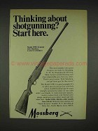 1970 Mossberg 395K 12-gauge Shotgun Ad - Start Here