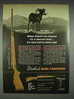 1970 Weatherby Mark V Magnum Rifle Ad - No Second Shot