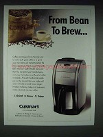2005 Cuisinart Grind & Brew Thermal Coffee Maker Ad