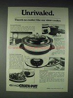 1979 Rival Crock-Pot Slow Cooker Ad - Unrivaled