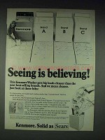 1976 Kenmore Washing Machine Ad - Seeing is Believing