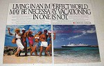 1988 Norwegian Cruise Line Ad - An Imperfect World