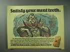 1978 Slim Jim Meat Snack Ad - Satisfy Your Meat Tooth