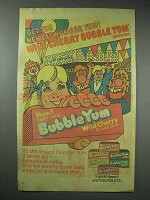 1980 Bubble Yum Bubble Gum Ad - Wild Cherry