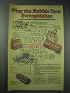 1982 Bubble Yum Bubble Gum Ad - Play the Sweepstakes