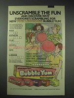 1983 Bubble Yum Bubble Gum Ad - Pink Lemonade