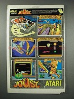 1984 Atari Joust Video Game Ad