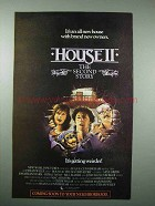 1987 House II Movie Ad - The Second Story