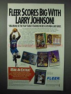 1992 Fleer NBA Basketball Cards Ad - Larry Johnson