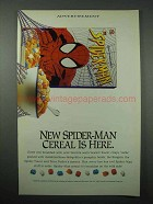 1996 Ralston Spider-Man Cereal Ad