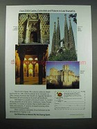 1988 Spain Tourism Ad - Castles, Cathedrals, Palaces