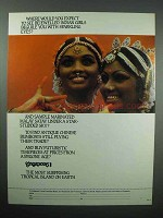 1980 Singapore Tourism Ad - Bejewelled Indian Girls
