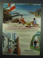 1977 Bermuda Tourism Ad - Delightful Little Beach