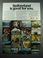 1977 Switzerland Tourism Ad - Is Good For You