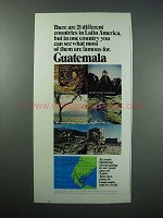 1974 Guatemala Tourism Ad - 21 Countries Latin America