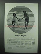 1967 Virginia Tourism Ad - The Seashore