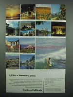 1967 Southern California Tourism Ad - All This At Hometown Prices