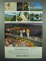 1966 Southern California Tourism Ad - All This At Hometown Prices