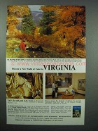 1966 Virginia Tourism Ad - Discover World of Color