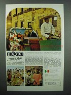 1966 Mexico Tourism Ad - A Colorful Carriage Ride