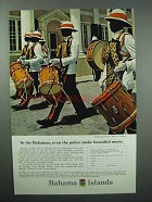 1966 Bahamas Tourism Ad - Police Make Beautiful Music