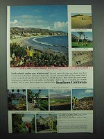 1964 Southern California Tourism Ad - Under Winter Sun