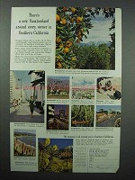 1962 Southern California Tourism Ad - New Vacationland