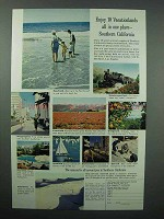 1962 Southern California Tourism Ad - 10 Vacationlands
