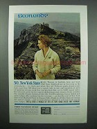 1962 New York Tourism Ad - Scotland? No!
