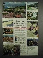 1961 Southern California Tourism Ad - New Kind of Fun