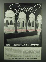 1960 New York Toursim Ad - Spain? - The Cloisters