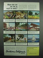 1959 Southern California Tourism Ad - See So Much