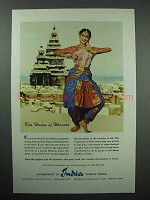 1959 India Tourism Ad - The Dance Of Bharata