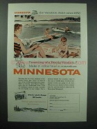 1958 Minnesota Tourism Ad - Vacation State Since 1858