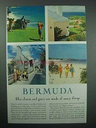 1958 Bermuda Tourism Ad - Her Charm And Grace