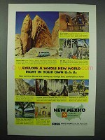 1955 New Mexico Tourism Ad - Explore a Whole New World
