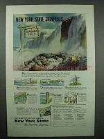 1953 New York Tourism Ad - Niagara Falls