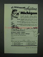 1953 Michigan Tourism Ad - Vacationtime Anytime