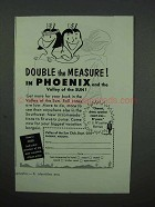 1952 Phoenix Arizona Tourism Ad - Double the Measure