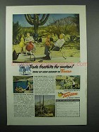 1952 Tucson Arizona Tourism Ad - Frostbite for Suntan