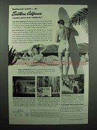 1946 Southern California Tourism Ad - Surfer