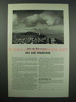 1943 San Francisco California Tourism Ad - After The War is Over