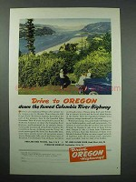 1940 Oregon Tourism Ad - Columbia River Highway
