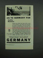 1931 Germany Tourism Ad - Castles, Romance