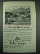 1928 Southern California Tourism Ad - Desert Flowers
