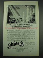 1927 Salt Lake City Utah Tourism Ad - Bryce Canyon