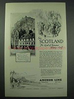 1926 Anchor Line Cruise Ad - See Scotland