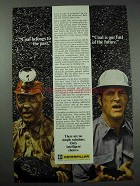 1975 Caterpillar Ad - Coal Belongs in Past, Future