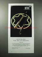 1987 Montblanc Noblesse Pen Ad - Art of Writing