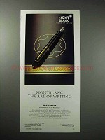 1986 Montblanc Masterpiece Pen Ad - Art of Writing